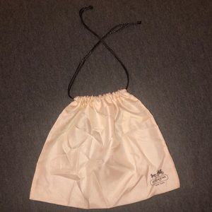 Coach silky dust bag with drawstring